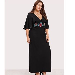 🌹Embroidered Dress with Flutter Sleeves